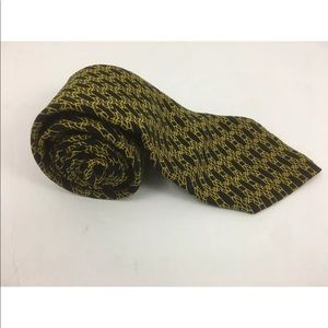 Brioni Mens Necktie Tie Silk Gold Black